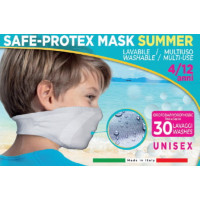 Norman Mascherina Safe-Protex Mask Summer Junior Celeste